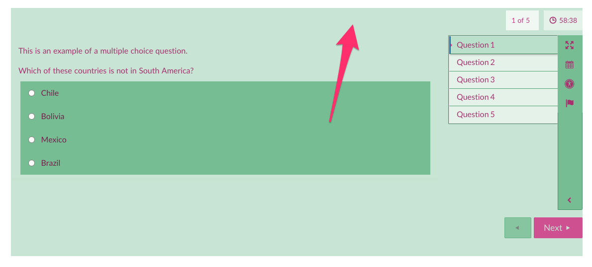 Example of Purple on Light Green Colour Scheme