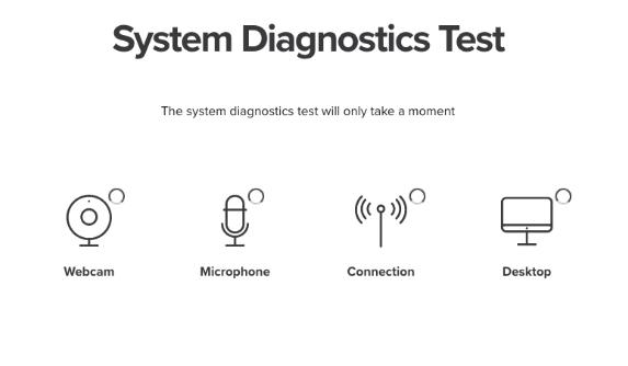 The Proctoring System Diagnostics Screen